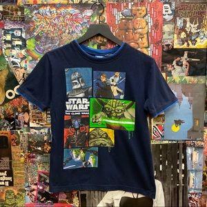 Star Wars the clone wars navy t-shit